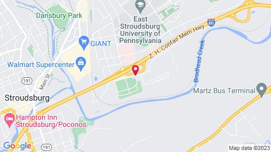 Quality Inn East Stroudsburg - Poconos Map