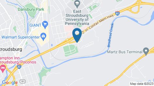 Super 8 by Wyndham Stroudsburg Map