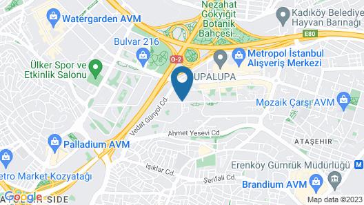 Radisson Blu Hotel Istanbul Asia Map