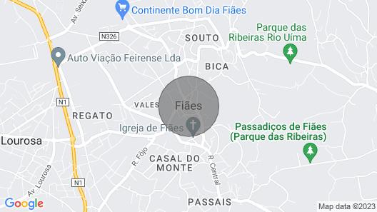 House Near Oporto, Espinho and Santa Maria da Feira Map