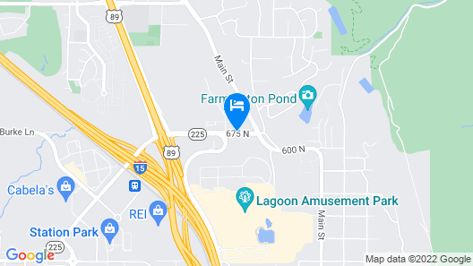 Hampton Inn & Suites Salt Lake City/Farmington, UT Map