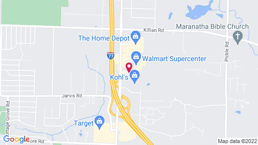 Red Roof Inn Akron Map