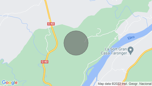 Geo Dome Nestled in Pine Forest Among Catalan Mountains Map
