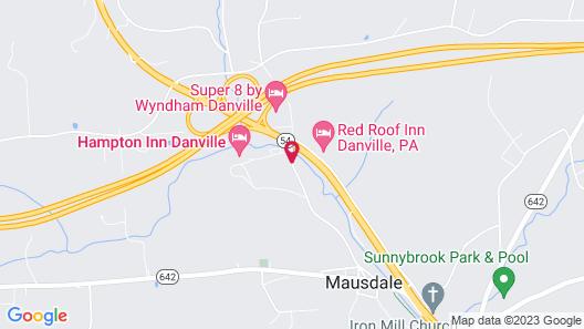 Best Western Danville Inn Map