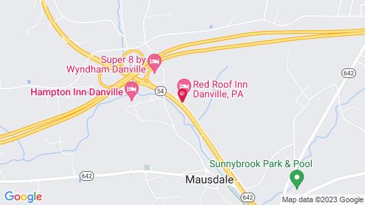 Red Roof Inn Danville, PA Map