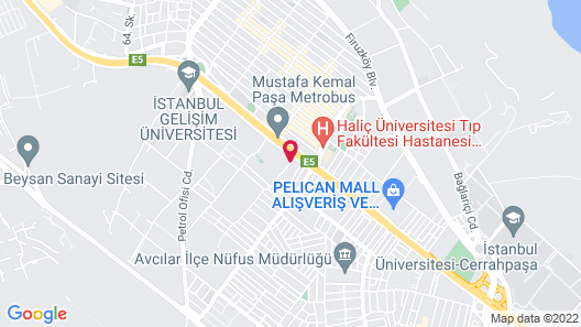 DoubleTree by Hilton Istanbul Avcilar Map