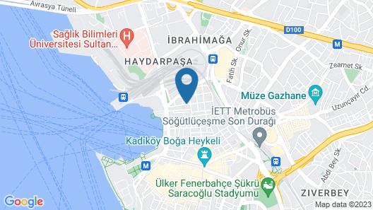 Hush Hostel Lounge Map