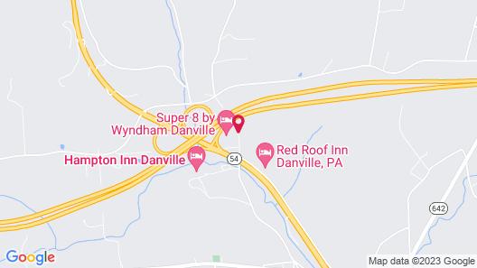 Super 8 by Wyndham Danville Map