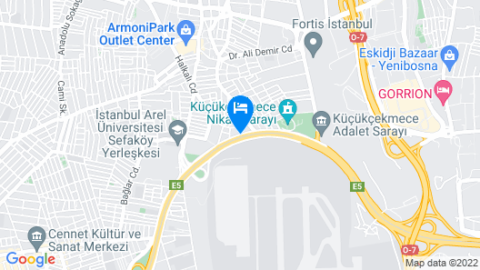 Bh Conference & Airport Hotel, Istanbul Map