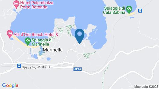 Marineledda & Vela Blu Village Sardegna Map