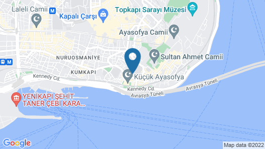 Topkapi Apartments Map