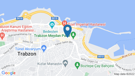 Zorlu Grand Hotel Trabzon Map