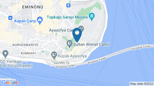 Hagia Sofia Mansions Istanbul, Curio Collection by Hilton Map