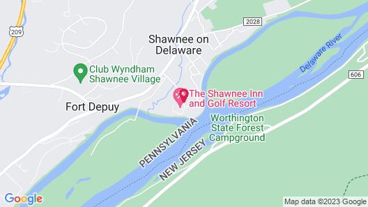 The Shawnee Inn and Golf Resort Map