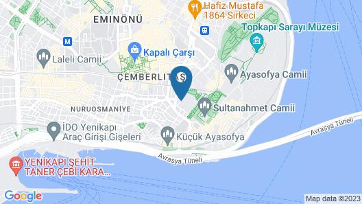Deluxe Golden Horn Sultanahmet Hotel Map
