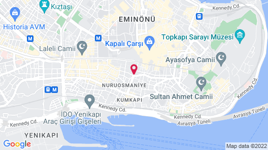 Radisson President Beyazit Istanbul Map