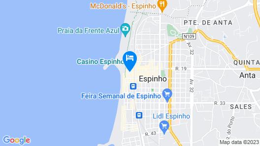 Hotel Apartamento Solverde Map