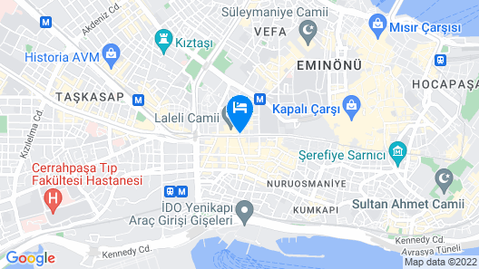 Crowne Plaza Istanbul - Old City, an IHG Hotel Map