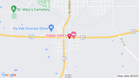 Indian Hills Inn & RV Park Map