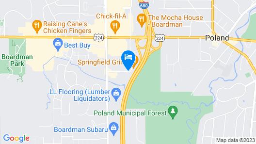 Red Roof Inn Boardman Map