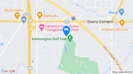 Courtyard by Marriott Youngstown Canfield Map