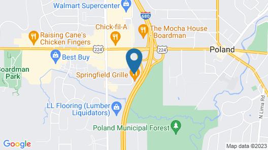 Hampton Inn Youngstown/Boardman Map