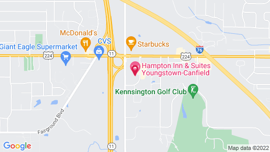 Hampton Inn & Suites Youngstown-Canfield Map