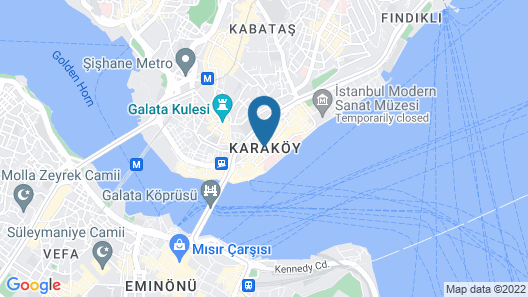 Galata's Hotel Map
