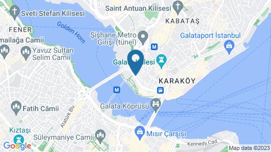 The Halich Hotel Istanbul Karakoy Map