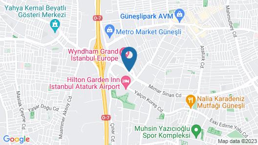 Divan Suites Istanbul G-Plus Map