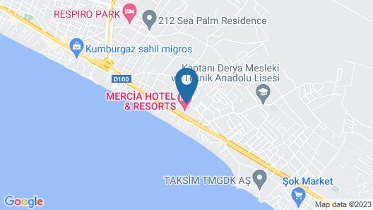 Mercia Hotels & Resorts Map