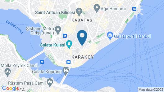 Unver Galata Apart Map