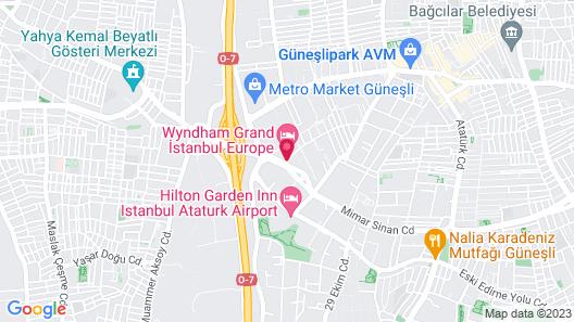 Wyndham Grand Istanbul Europe Map