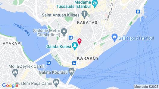 Georges Hotel Galata Map