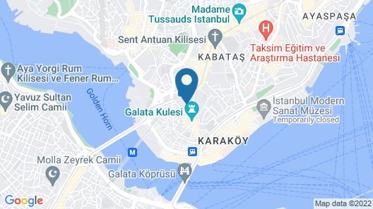 Louis Appartements Galata Map