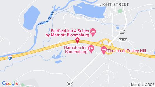 Hampton Inn Bloomsburg Map