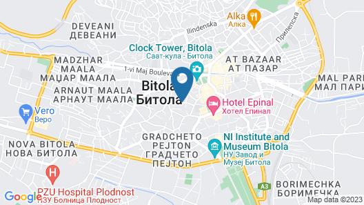 Hotel Ambasador Bitola Map