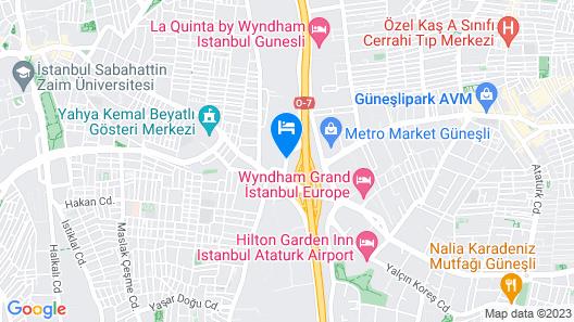 Elite World Europe Hotel Map