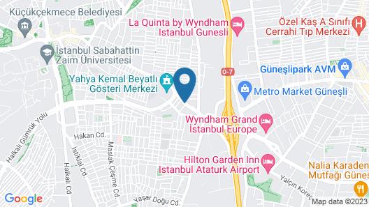 Park Inn By Radisson Istanbul Ataturk Airport Map