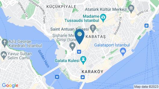 Pera Tulip Hotel Map