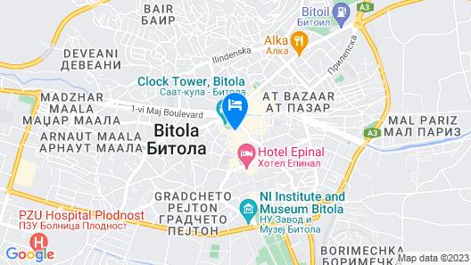 Hotel Epinal - Bitola Map