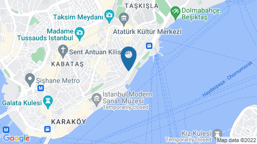 Metropolitan Hotels Bosphorus Map