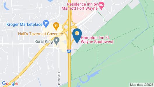 Hampton Inn Ft. Wayne-Southwest Map