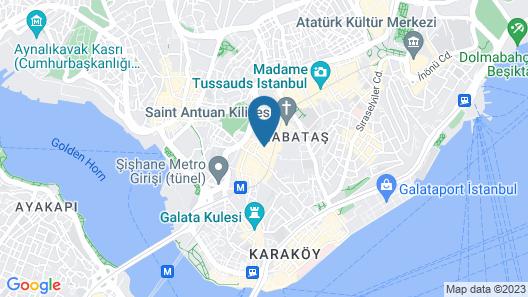 Sanat Hotel Pera Boutique Map