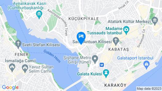 Beyoglu Huzur Hotel Map