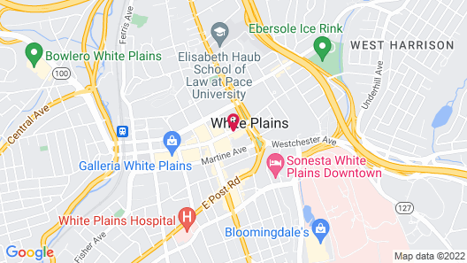 Cambria Hotel White Plains - Downtown Map