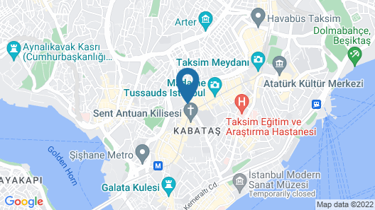 Hotel The Pera Hill Map