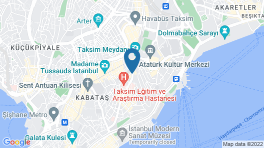 AKKA Lush Hotel Taksim Map