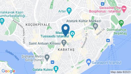 Sanat Hostel Taksim Map