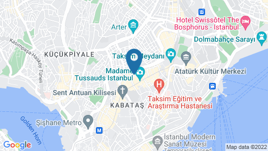 Taksim Maxwell Hotel Map